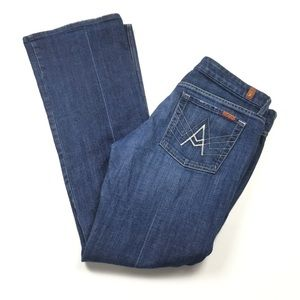 7 For All Mankind A Pocket Flare Dark Jeans Sz 32